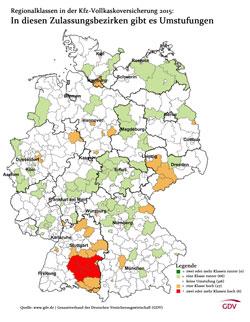 Regionalklassen 2015: In welchen Regionen es Umstufungen gegeben
