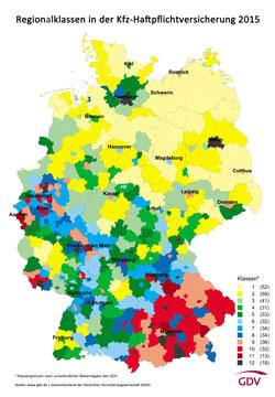 Regionalklassen 2015: Haftpflichtversicherung