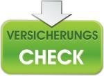 Grünes Schild mit Aufschrift Versicherungscheck